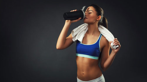woman-drinking-whey-protein-shake